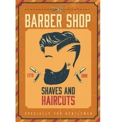 Barber Shop Poster vector