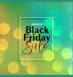 beautiful black friday sale bokeh background vector image