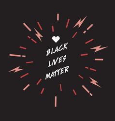 Black lives matter lettering design element vector