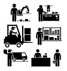 Business ecosystem between manufacturer vector