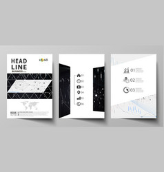 business templates for brochure flyer annual vector image vector image