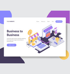 business to business isometric vector image