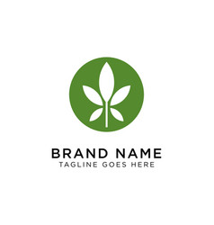 cannabis logo design inspiration vector image