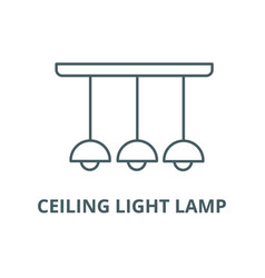 ceiling light lamp line icon ceiling vector image