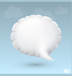Chat cloud vector
