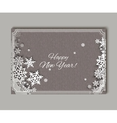 Christmas snowflakes Greteeng Card vector image