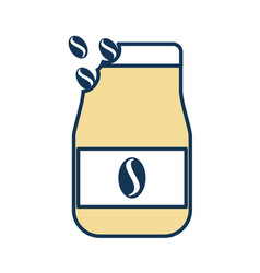 coffee toast bag icon vector image
