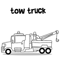 Collection transportation of tow truck vector