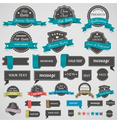 Collection vintage labels and ribbons vector