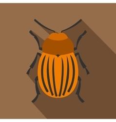 Colorado beetle icon flat style vector image