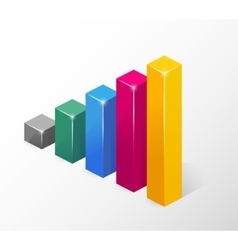 Colored Bar Chart Isolated on White vector