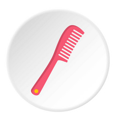 comb icon circle vector image