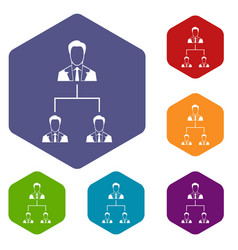 company structure icons set vector image