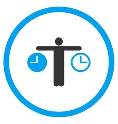 Compare Time Circled Icon vector