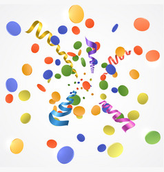 confetti explosion on white background vector image