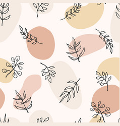 contemporary art seamless pattern with branches vector image