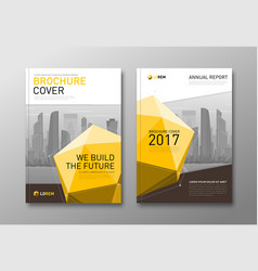 Corporate brochure cover design template vector