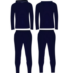 Dark blue hooded tracksuit vector