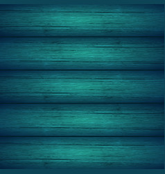 dark turquoise blue wooden planks texture vector image