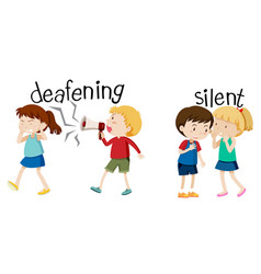 Deafening and silent scene vector