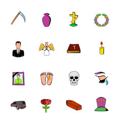 death icon set vector image