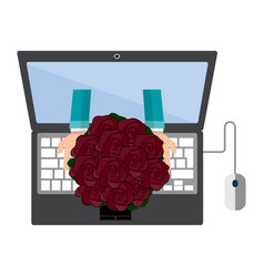 delivery placing order online vector image