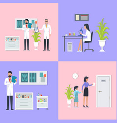 doctors laboratory assistant vector image