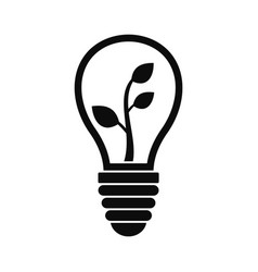 eco save bulb icon simple style vector image