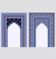 Eid-al-fitr festive card collection design vector