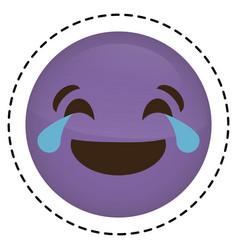 expression face emoji icon vector image