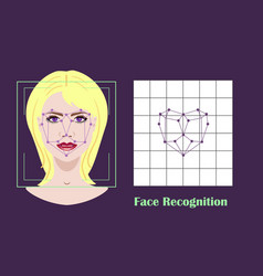Face recognition - biometric security system vector