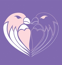 Final Bird heart vector