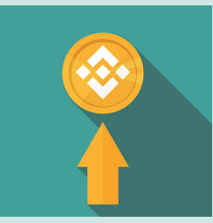flat design golden coin binance coin - bnb vector image