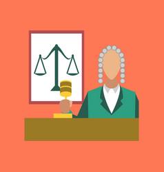 flat icon on stylish background jurisdiction judge vector image