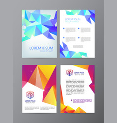 flyer purple brochure abstract design 2 vector image