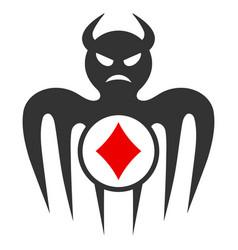 Gambling spectre devil flat icon vector