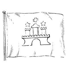 Hamburg flag vintage vector