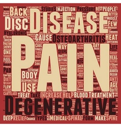 How To Treat Degenerative Disc Disease text vector image