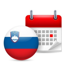 Icon of national day in slovenia vector
