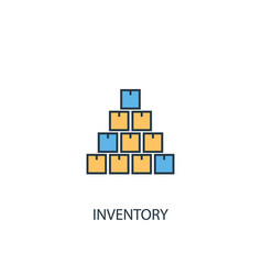 inventory concept 2 colored line icon simple vector image