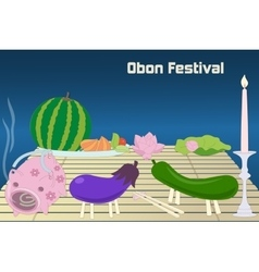 Japanese summer bon festival obon background vector