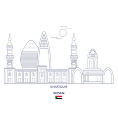 khartoum city skyline vector image
