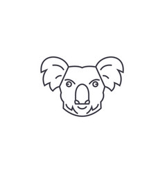 koala head line icon sign on vector image
