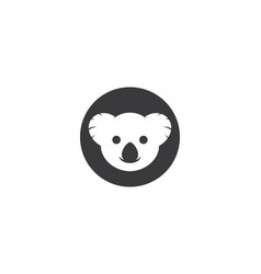 koala logo illustration vector image
