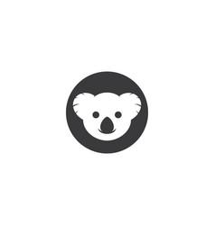 koala logo ilustration vector image