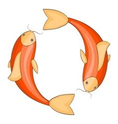 Koi carps icon cartoon style vector image