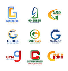 Letter g icons for corporate identity vector