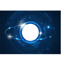 light blue futuristic circle technology vector image