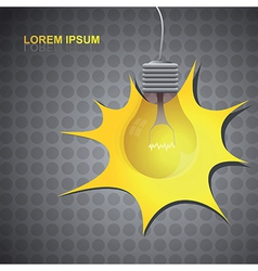 Lightbulb background vector image