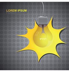 Lightbulb background vector